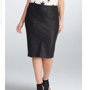 [Rebel Wilson for Torrid] Faux Leather Midi Skirt